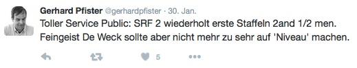 Auch SRF wird gerügt.