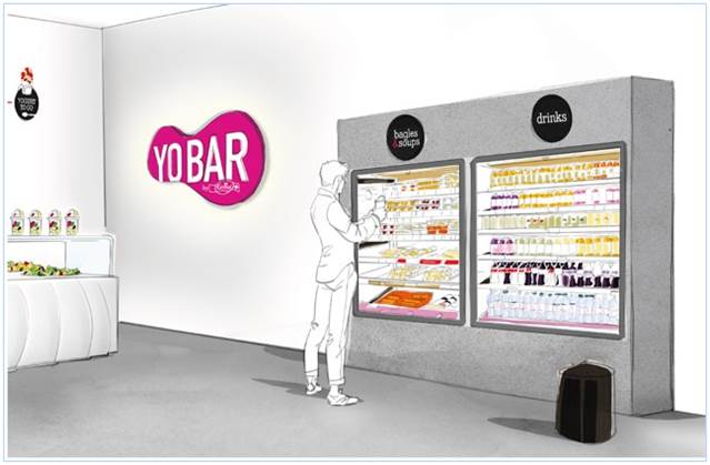 An diesem Automaten können die Besucher ihre Fertigprodukte selber aussuchen.