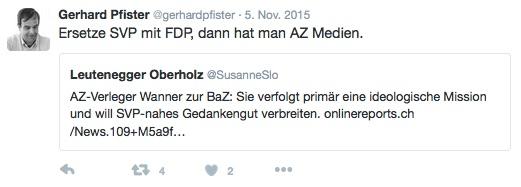 Die Aargauer Zeitung bekommt denselben Stempel aufgedrückt wie die NZZ.