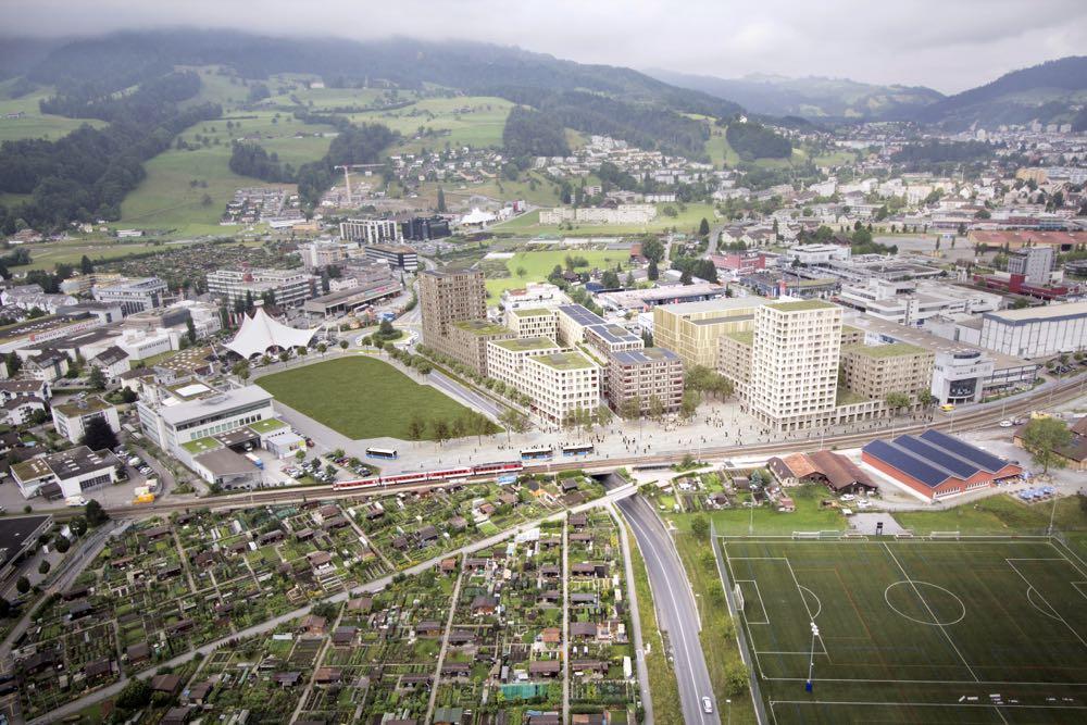 Eines der Grossprojekte: Überbauung von Mobimo in Kriens-Mattenhof. (Bild: Visualisierung von Mobimo AG)