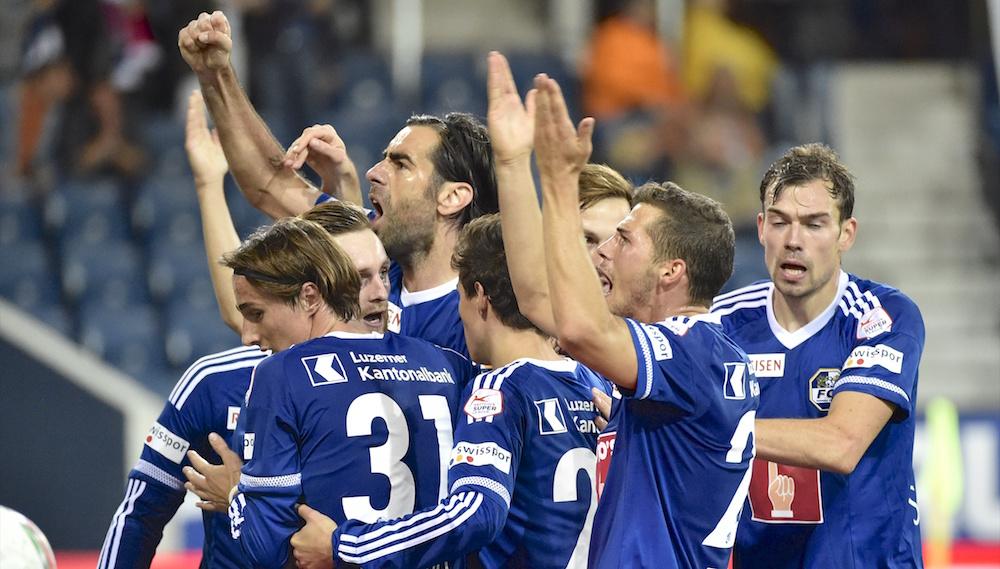 Die FCL-Spieler am Jubeln nach dem 2:1-Treffer Anfang Oktober gegen den FC Lugano. Diesem gelang in der 93. Minute noch der Ausgleich.