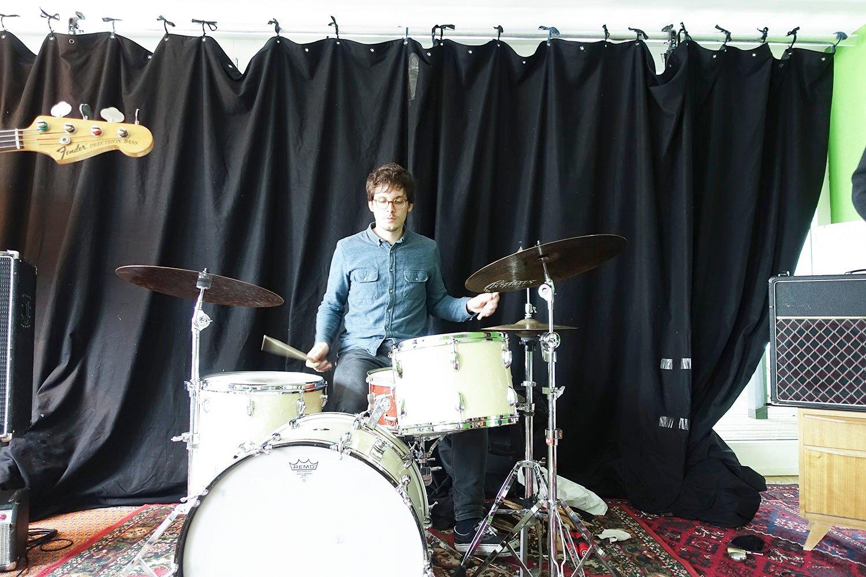 Drummer David Meier. (Bild: jwy)