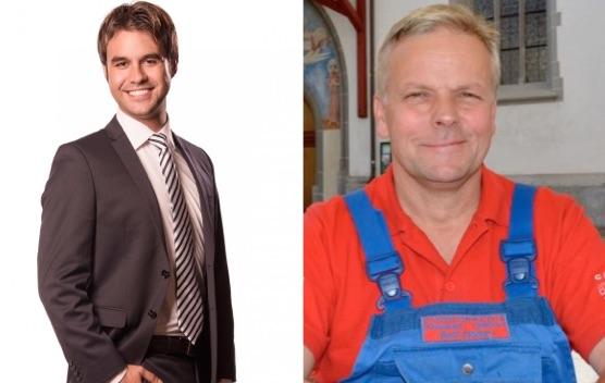 Die beiden Kandidaten Denis Kläfiger (links) und Rudolf Schweizer (rechts) haben keine Wahlchancen.