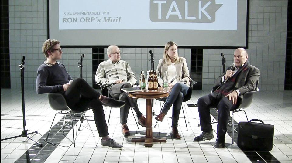 Mehr Branchenvielfalt bitte! Moderator Daniel Schriber mit Albert Schwarzenbach (Grossstadtrat CVP), Simone Müller-Staubli (Gastronomin) und Walter Stadelmann (Bäckerei Merz).