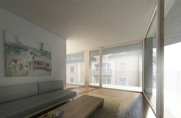Moderne, helle Wohnungen mit Balkonen sollen die Neustadtstrasse aufwerten. (Bild: Rohrer Sigrist Architekten)