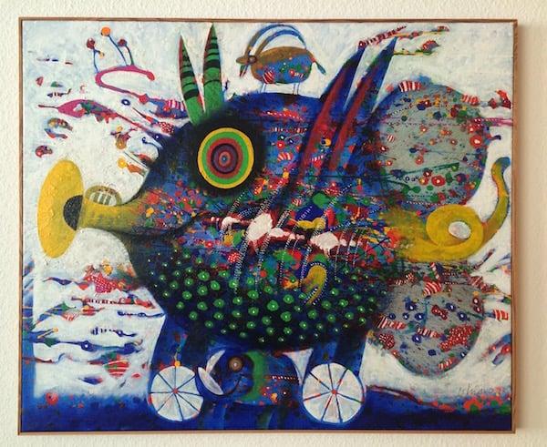 Bekannt für seine Fisch-Gemälde: Elso Schiavo. (Foto: Beat Villiger)