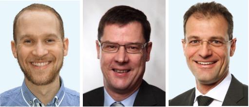 Sind sich nicht einig: Marcel Budmiger (von links), Ludwig Peyer und Reto Wyss.