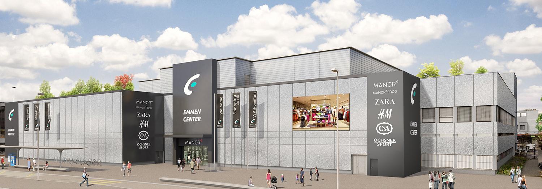 So soll die neue Fassade des Emmen Centers aussehen.