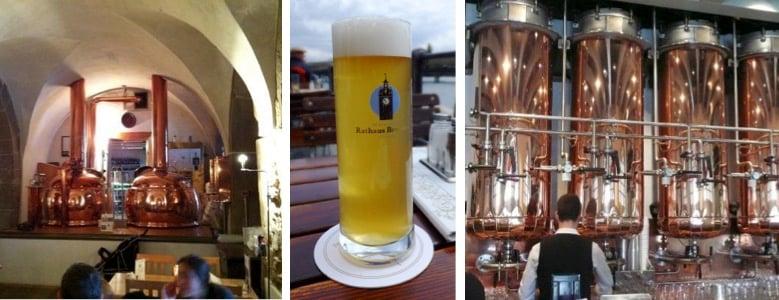 Das Bier steht in der Rathaus Brauerei natürlich im Vordergrund.