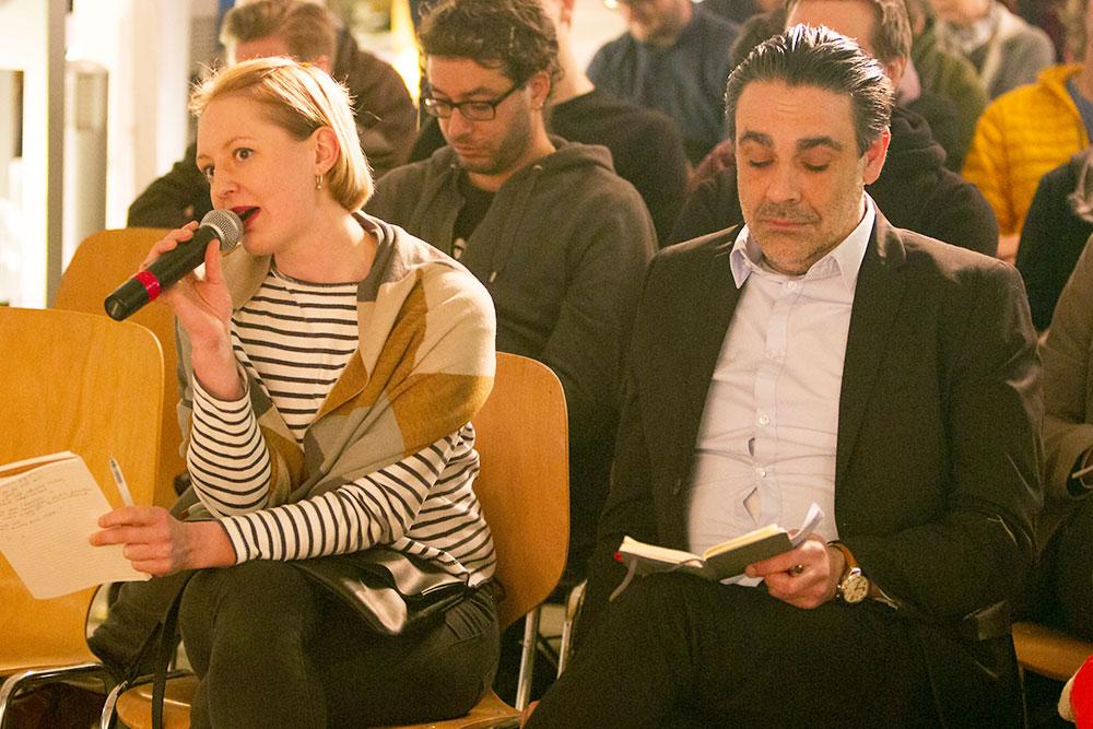 Fragen stellten auch Angela Meier (IG Kultur) und Jesus Turiño (ABL). (Bild: Beat Blättler)