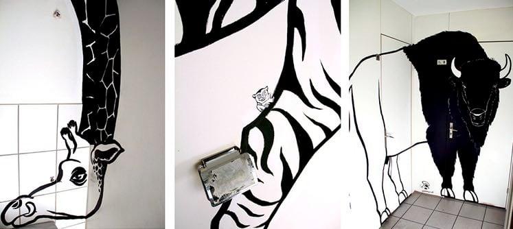 Die Wandbemalung in der Metzgerhalle Luzern von «Waldshop».
