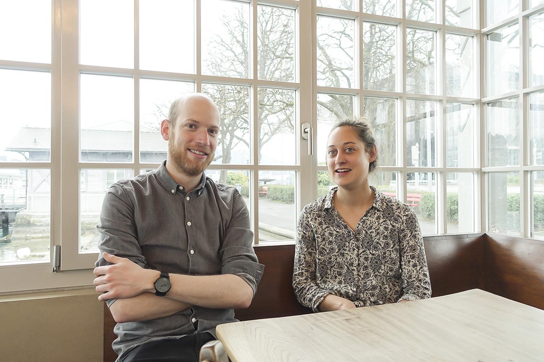 Das Leitungs-Duo der Stanser Musiktage: Marc Rambold und Esther Unternährer.