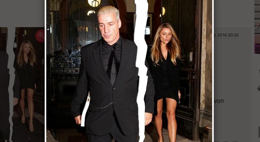 Das getrennte Paar Til Lindemann und Sophia Tomalla. (Bild: Screenshot Gala.de)