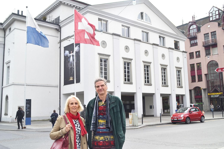 Das Haus der Begierde: Luzia Stofer und Ariel Kolly vom Initiativ-Komitee.