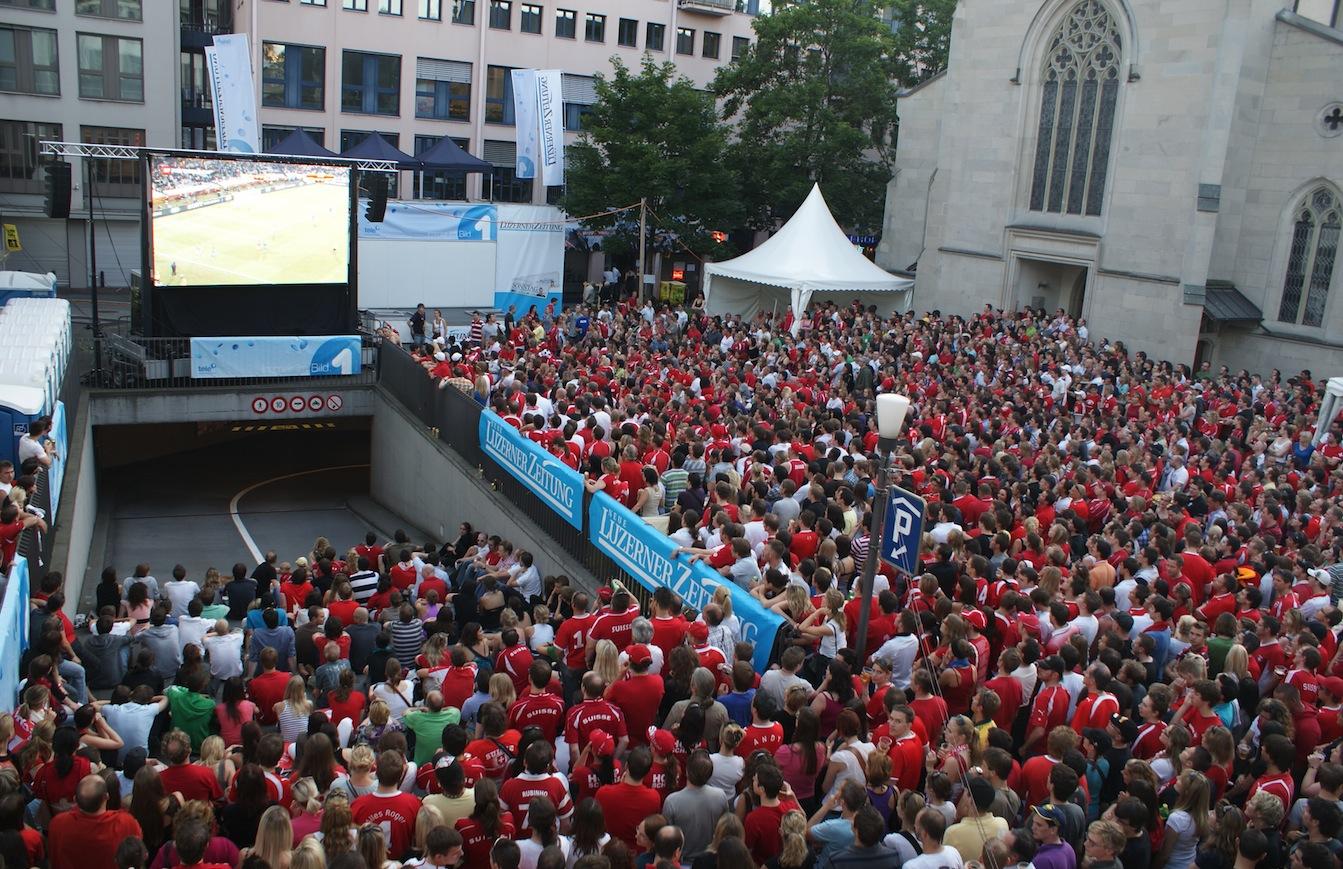 Viele Schweizer Fans an der WM 2014.