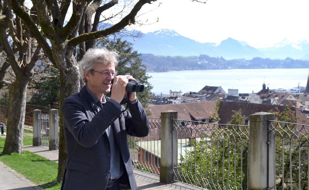 Der einmalige Blick über die Stadt Luzern gefällt Borgula besonders.