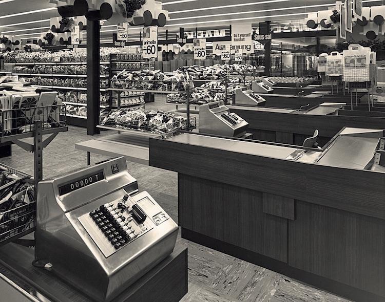 Das Shopping-Center Schönbühl-Luzern im Jahr 1967.