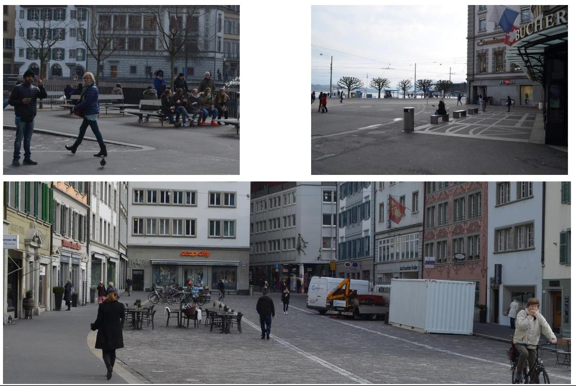 Sitzgelegenheiten seien wichtig für die Attraktivität einer Einkaufsstadt. Hier gezeigt: der Mühlenplatz und der Schwanenplatz.