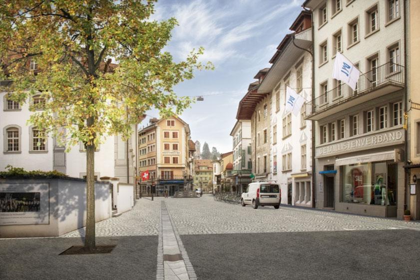 ... und die südliche Burgerstrasse künftig (Symbolbild).