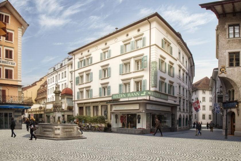 Philipp-Anton-von-Segesser-Platz mit Bahnhofstrasse wie er ab 2018 aussehen soll (Symbolbild).