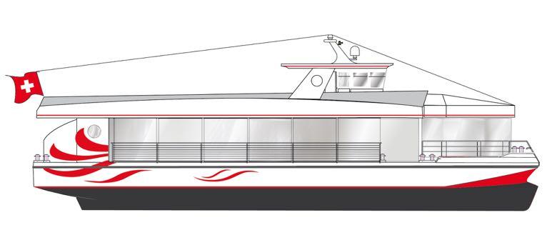 Es begann mit der Skizze: So sollte das neue Schiff aussehen.