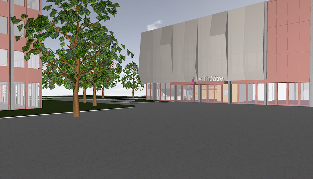 Aussen ist eine Anpassung der Fassade geplant.