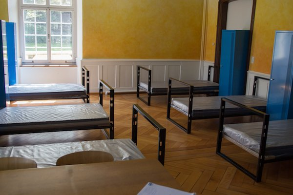 Ein noch leeres Zimmer im Salesianum.