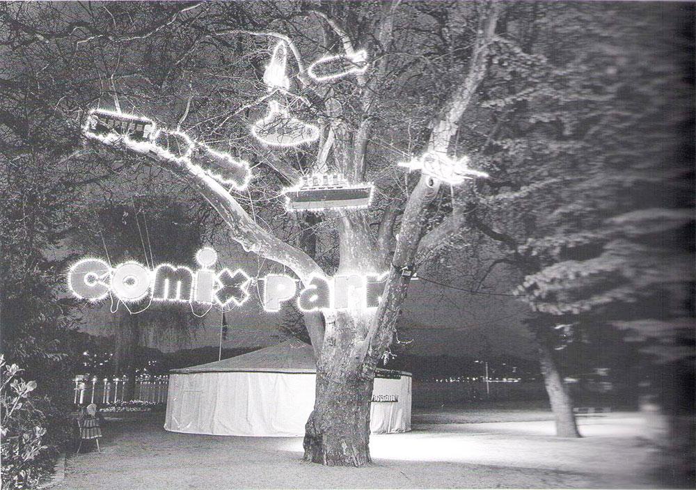Fumetto auf dem Inseli: Comixpark mit Ausstellung im Zelt.