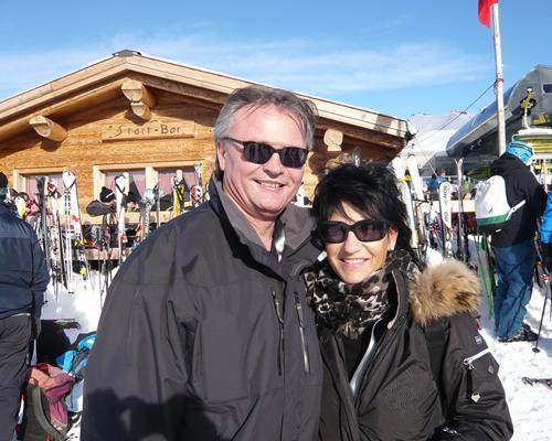 Stefan Roth mit seiner Frau Ursi.