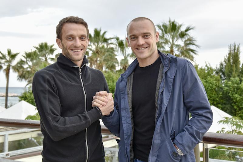 Christian Schneuwly (links) freut sich mit seinem Bruder Marco gemeinsam für den FCL auf Torejagd zu gehen. Dieses Bild entstand im Januar im Trainingslager in Marbella. (Martin Meienberger/freshfocus)