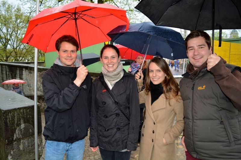 Die Touristen Nikolaus, Nicole, Natascha und Alex: «Luzern ist die schönste Stadt der Schweiz. Neben Zürich.»