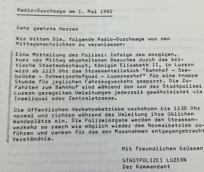 Auch die Polizei informierte. (Bild: Staatsarchiv Luzern, A 1127/5)