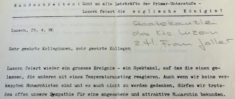 Mittelmässige Begeisterung bei den Verfassern eines Rundschreibens. (Bild: Staatsarchiv Luzern, A 1127/15)