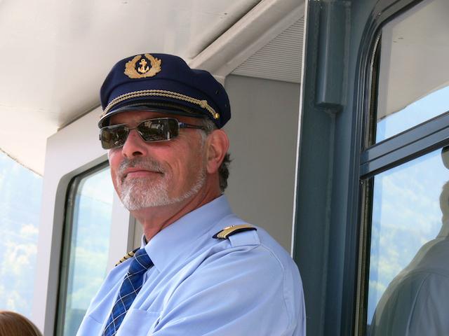 Ein Kapitän mit Weitsicht.