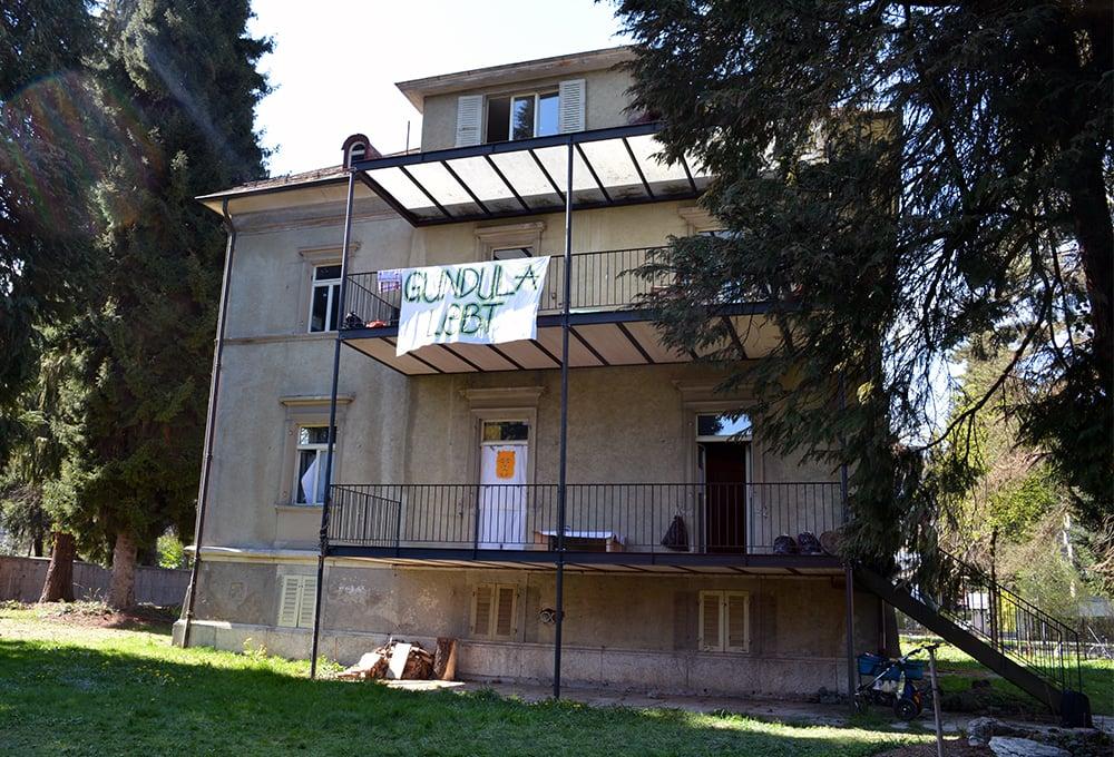 Die Rückseite des besetzten Hauses (Bild: lru).