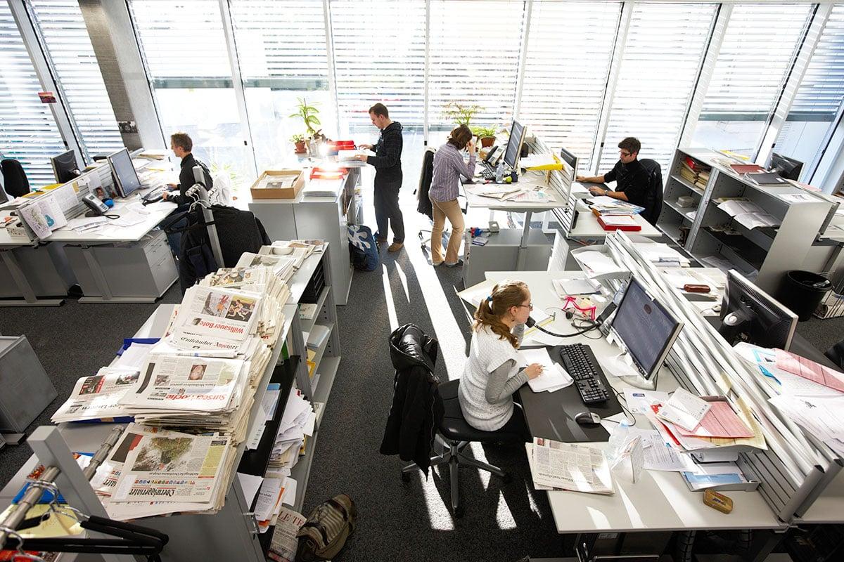 Dies war sein Reich: die Redaktion der «Neuen Luzerner Zeitung». (Bild: Emanuel Ammon/AURA)