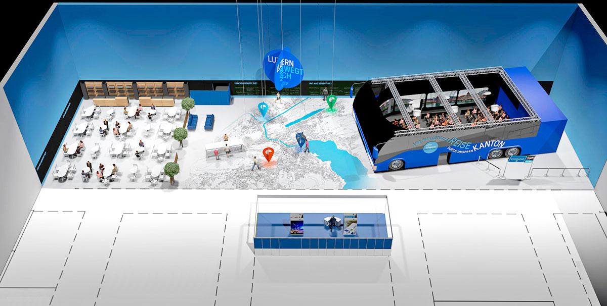 Visualisierung: So wird die Luzerner Sonderschau an der Luga aussehen.