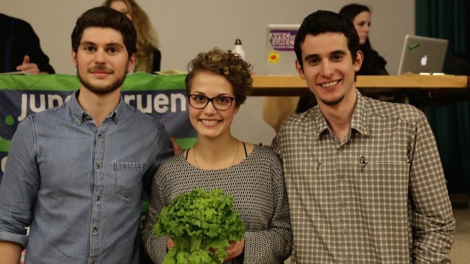 Im Februar wählten die Jungen Grünen ein neues Präsidium. Von links: Luzian Franzini, Judith Schmutz und Ilias Panchard.
