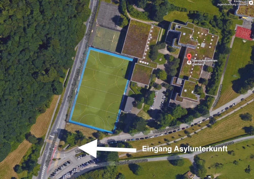 Die unterirdische Anlage befindet sich gleich bei der Schulanlage Utenberg.