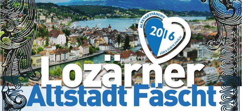 Mit diesem Logo wirbt das Lozärner Altstadt Fäscht 2016 auf Facebook.