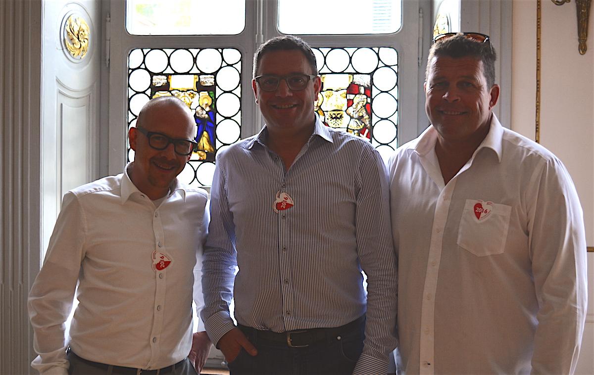 Die drei Herren hatten die Idee, wieder ein Altstadt Fäscht im Haus der Maskenliebhaber-Gesellschaft durchzuführen.