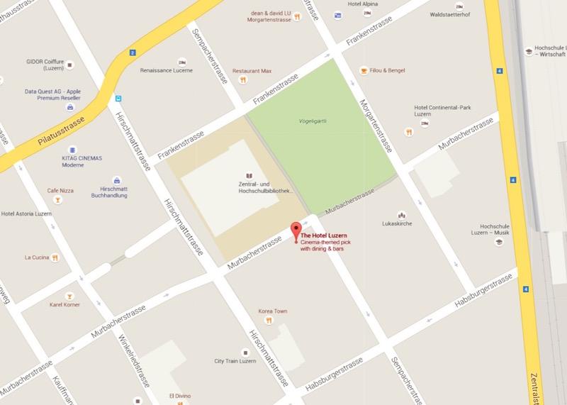Das «The Hotel» befindet sich am Rande des Vögeligärtli (Bild: Google maps).