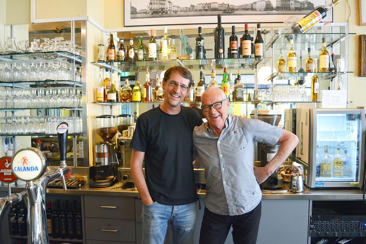 Domi Meyer (links) kehrt in die «Jazzkantine» zurück, Henk Bergmans verlässt das Lokal im Sommer.