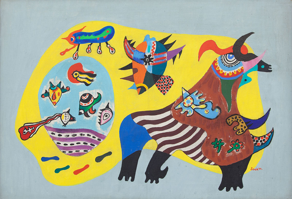 Sonja Sekula: «Animal Without Subject of War», 1944. (Bild: Kunstmuseum Luzern)