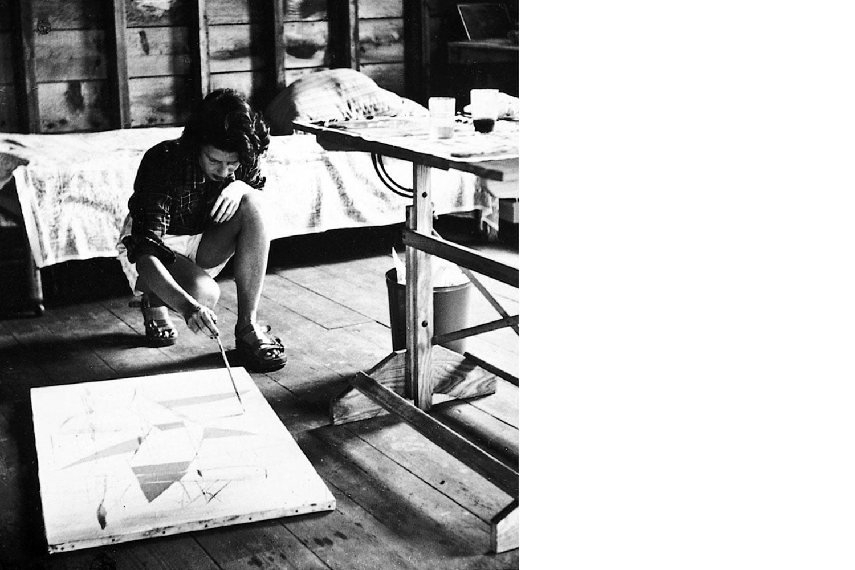 Mitten in der Kunst-Avantgarde: Sonja Sekula in Long Island, New York, 1946. (Bild: zvg)