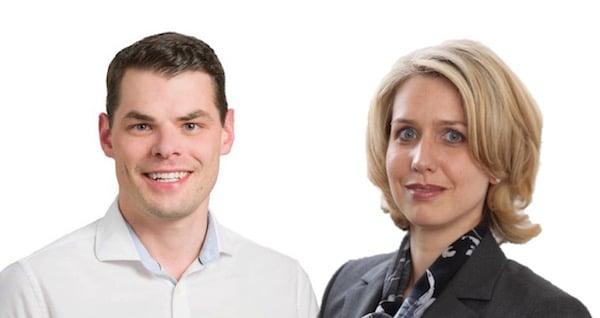 Fabian Reinhard, FDP-Präsident, und Franziska Bitzi Staub, CVP-Fraktionschefin
