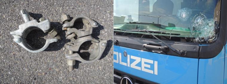 Diese beiden Bilder publizierte die Luzerner Polizei nach den Ausschreitungen 2012. Sie geriet unter heftigen Beschuss.