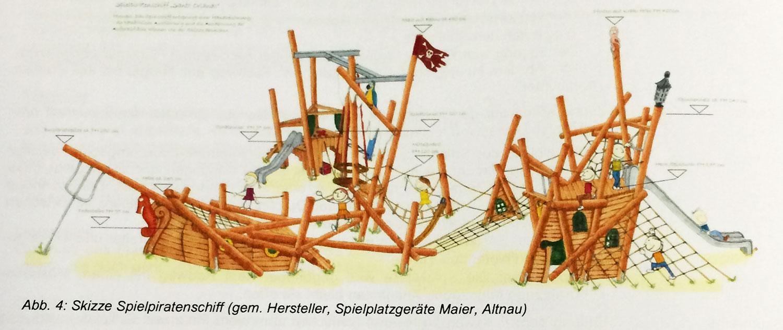 Das neue Highlight für die Kinder: So wird das neue Piratenschiff aussehen. (Bild: zvg)