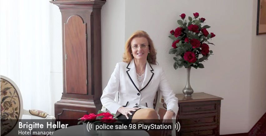 « Police sale 98 PlayStation» – ähm, ja.  (Bild: Screenshot Youtube)