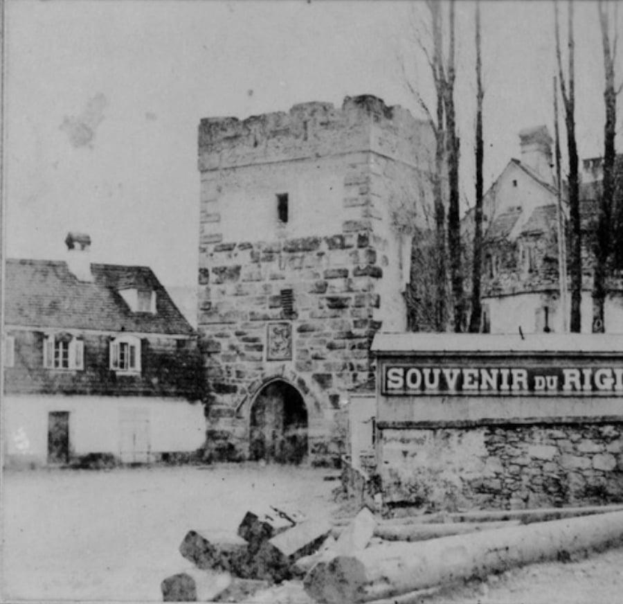 Das Äussere Weggistorin Luzern, 1860 (Bild: Stadtarchiv Luzern)